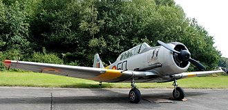 Belgian Air Component - T6 Harvard Mk 4 on display at Ursel Air Base