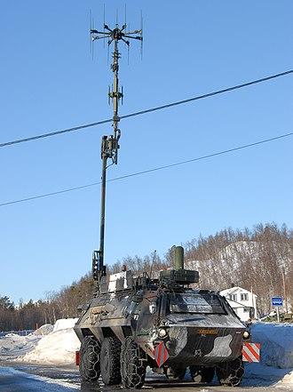 TPz Fuchs - Image: T Pz FUCHS 1 of the Dutch army in electronic warfare configuration