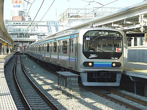 Rinkai Line - A TWR 70-000 series train on the Tokyo Waterfront Railway, heading towards Shin-Kiba