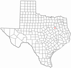 Location of Powell, Texas