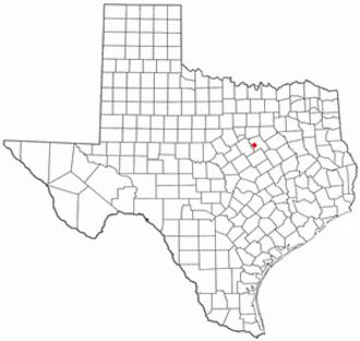 Whitney, Texas - Image: TX Map doton Whitney