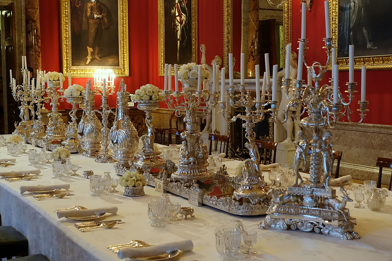File Table Setting Dining Room Chatsworth House
