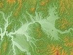 Takasu Basin & Ōdate Basin Relief Map, SRTM-1.jpg