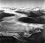 Taku Glacier, terminus of tidewater glacier with firn line visible in the background, August 24, 1969 (GLACIERS 6181).jpg