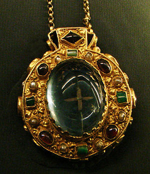 Talisman - The Talisman of Charlemagne, also a reliquary, said to have been found on his body when his tomb was opened