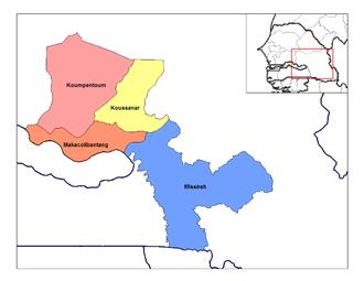 Tambacounda - Image: Tambacounda arrondissements