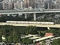 Taoyuan Airport MRT Train at Guishan, Taoyuan 20171220.jpg