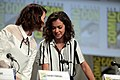 Tatiana Maslany Sarah Paulson Comicon 2014 02.jpg