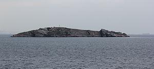 Tavşan Adası - The island seen from the west
