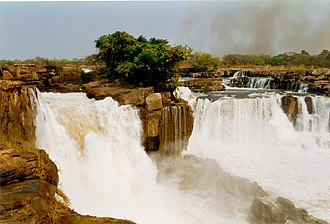 Kwango River - Tazua Falls on Cuango River in Angola