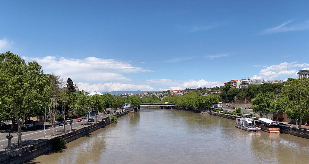 Kura River in Tbilisi