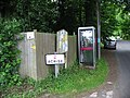 Telephone box on Coach Road as you enter Acrise - geograph.org.uk - 853695.jpg