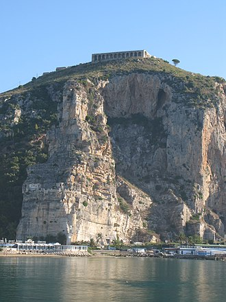 "Terracina - Platform of sanctuary and temple of ""Jupiter Anxur""."