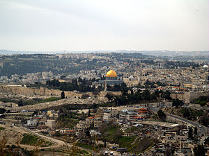 A view of the Temple Mount in Jerusalem.