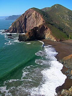 Tennessee Cove bay in California, United States of America
