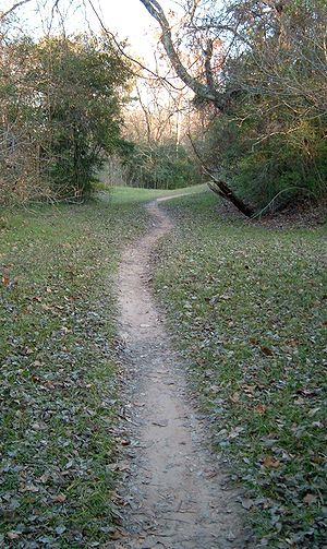 Terry Hershey Park trail in Houston, TX, USA
