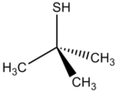 Skeletal formula of tert-butylthiol