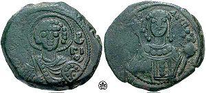 Tetarteron - Copper tetarteron of Emperor Manuel I Komnenos (r. 1143–1180).
