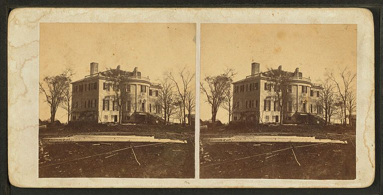 "Montpelier, the Gen. Henry Knox mansion (1793-1871) - replica built 1929. The ""Knox Mansion,"" Thomaston, from Robert N. Dennis collection of stereoscopic views.jpg"
