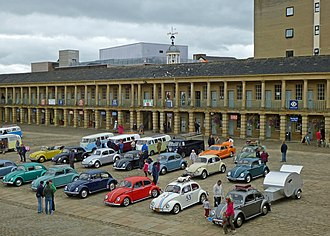 Piece Hall - A Volkswagen rally at Piece Hall in 2013.