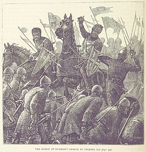 Battle of Falkirk - A British illustration of Antony Bek's charge