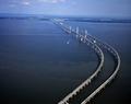 The Chesapeake Bay Bridge is a major dual-span bridge in the U.S. state of Maryland LCCN2011631480.tif