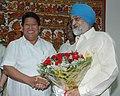 The Chief Minister of Arunachal Pradesh, Shri Dorjee Khandu meeting the Deputy Chairman, Planning Commission, Shri Montek Singh Ahluwalia, to finalize Annual Plan 2010-11 of the State, in New Delhi on May 10, 2010.jpg