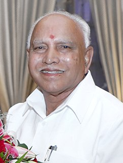 B. S. Yediyurappa 19th Chief Minister of Karnataka