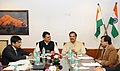 The Chief Minister of Maharashtra, Shri Devendra Fadnavis meeting the Minister of State for Culture and Tourism (Independent Charge), Dr. Mahesh Sharma, to discuss the Tourism related issues in Maharashtra, in New Delhi.jpg