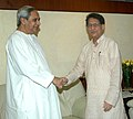 The Chief Minister of Odisha, Shri Naveen Patnaik meeting the Union Minister for Civil Aviation, Shri Ajit Singh, in New Delhi on September 20, 2012.jpg