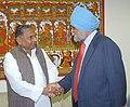 The Chief Minister of Uttar Pradesh, Shri Mulayam Singh Yadav calls on the Deputy Chairman Planning Commission, Shri Montek Singh Ahluwalia to finalize Annual Plan 2006-07 of the State, in New Delhi on December 22, 2005 (1).jpg