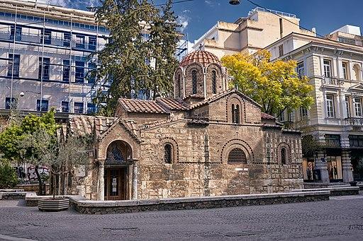 The Church of Panagia Kapnikarea on March 19, 2020