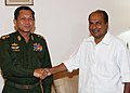 The Commander-in-Chief of Defence Services of the Republic of the Union of Myanmar, General Min Aung Hlaing meeting the Defence Minister, Shri A. K. Antony, in New Delhi on August 03, 2012.jpg
