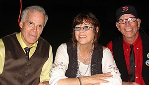 The Cowsills at Abbey Road on the River in 2019; left to right: Bob, Susan, and Paul