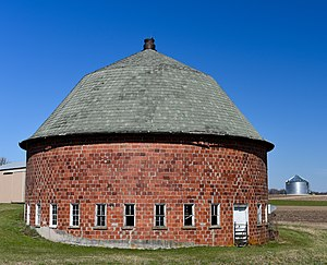 National Register of Historic Places listings in Vernon County, Wisconsin - Image: The Cunningham Round Barn