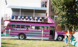 RAGBRAI - An example of a RAGBRAI team bus