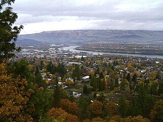 The Dalles, Oregon City in Wasco County