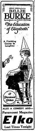 The Education of Elizabeth 1921 newspaperad.jpg