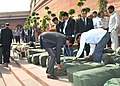 The General Budget 2015-16 documents brought in the Parliament House premises under security, in New Delhi on February 28, 2015.jpg