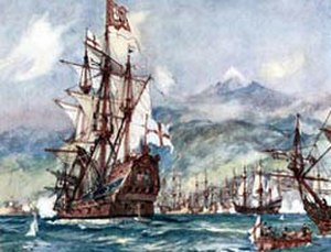 Robert Blake (admiral) - Robert Blake's flagship the George at the Battle of Santa Cruz de Tenerife, 1657