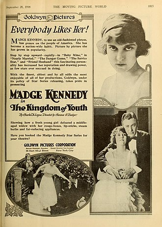 Madge Kennedy - The Kingdom of Youth (1918)