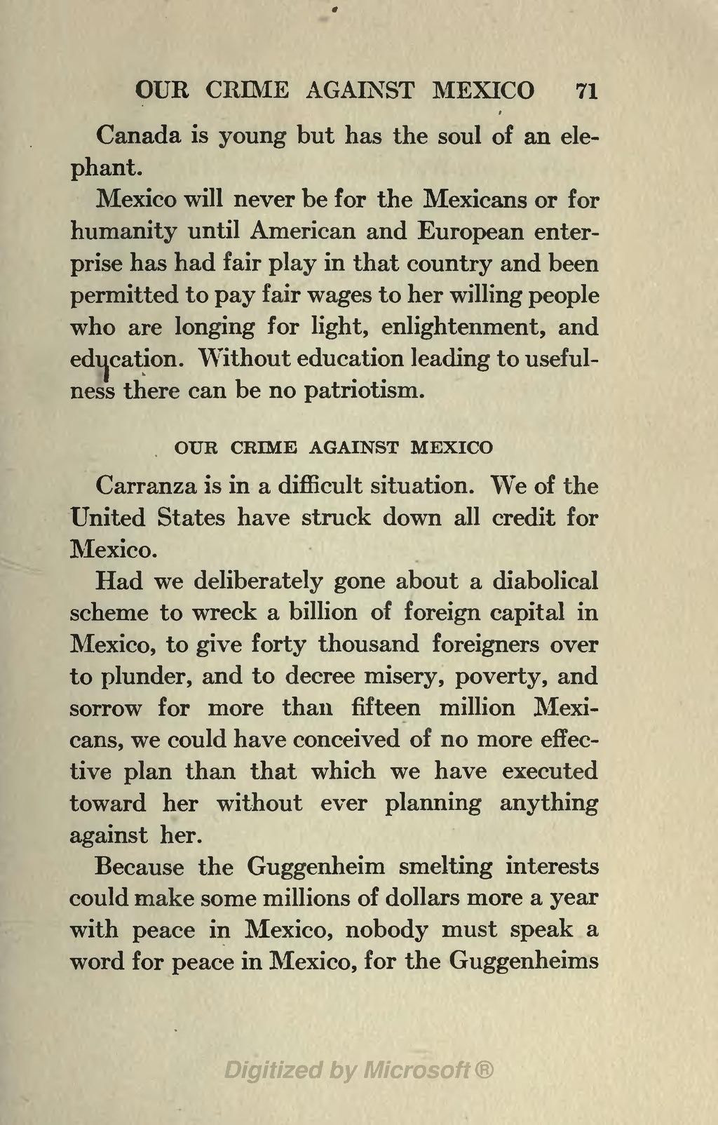 Mexican problem through 1917 essay