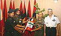 The Officiating Director General, Military Training, Maj. Gen. B.S. Sachar flagging off the Joint Indo-French Army Mountaineering Expedition, in New Delhi on September 30, 2010.jpg