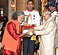 The President, Shri Pranab Mukherjee presenting the Padma Bhushan Award to Pt. Vishwa Mohan Bhatt, at the Civil Investiture Ceremony, at Rashtrapati Bhavan, in New Delhi on April 13, 2017.jpg