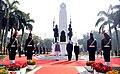The Prime Minister, Shri Narendra Modi and the Prime Minister of Israel, Mr. Benjamin Netanyahu paying homage, at Teen Murti Chowk, in New Delhi on January 14, 2018 (1).jpg