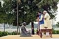The Prime Minister, Shri Narendra Modi and the Prime Minister of Japan, Mr. Shinzo Abe pay tributes to Mahatma Gandhi, at Sabarmati Ashram, in Ahmedabad, Gujarat on September 13, 2017 (1).jpg