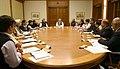 The Prime Minister, Shri Narendra Modi chairing the meeting on demonetization, in New Delhi on November 13, 2016.jpg