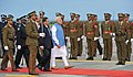 The Prime Minister, Shri Narendra Modi inspecting the Guard of Honour at Sir Seewoosagar Ramgoolam Airport, in Mauritius on March 11, 2015.jpg