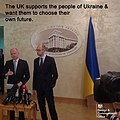 The UK supports the people of Ukraine and wants them to choose their own future. (13306041615).jpg