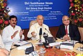 The Union Power Minister, Shri Sushilkumar Shinde dedicating Omkareshwar Project 520 MW (8x65) Siddhwarkut, Distt. Khandwa (M.P.) of NHDC Limited to the Nation through remote control from New Delhi on August 20, 2009.jpg